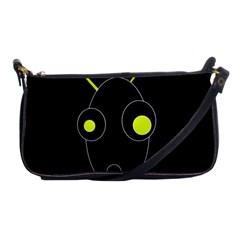 Yellow alien Shoulder Clutch Bags