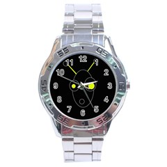 Yellow alien Stainless Steel Analogue Watch