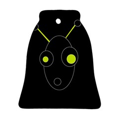 Yellow alien Bell Ornament (2 Sides)