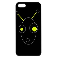 Yellow alien Apple iPhone 5 Seamless Case (Black)