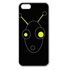 Yellow alien Apple Seamless iPhone 5 Case (Clear)