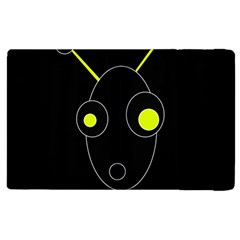 Yellow alien Apple iPad 3/4 Flip Case