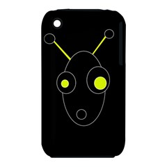 Yellow alien Apple iPhone 3G/3GS Hardshell Case (PC+Silicone)