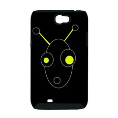 Yellow alien Samsung Galaxy Note 2 Hardshell Case (PC+Silicone)