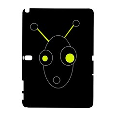 Yellow alien Samsung Galaxy Note 10.1 (P600) Hardshell Case