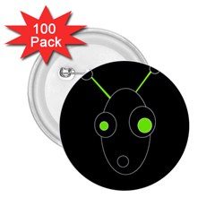 Green alien 2.25  Buttons (100 pack)