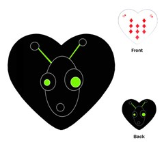Green alien Playing Cards (Heart)