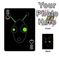 Green alien Playing Cards 54 Designs