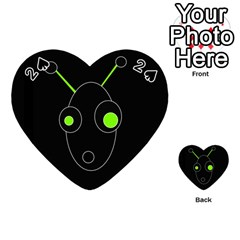 Green alien Playing Cards 54 (Heart)