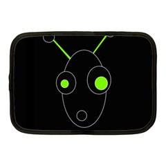 Green alien Netbook Case (Medium)