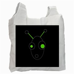 Green alien Recycle Bag (One Side)
