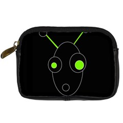 Green alien Digital Camera Cases