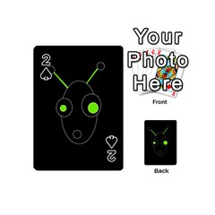 Green alien Playing Cards 54 (Mini)