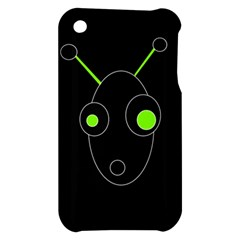 Green alien Apple iPhone 3G/3GS Hardshell Case