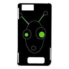 Green alien Motorola DROID X2