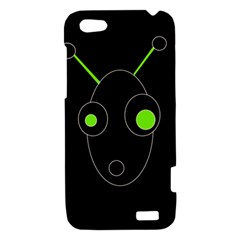 Green alien HTC One V Hardshell Case