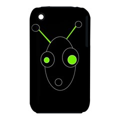 Green alien Apple iPhone 3G/3GS Hardshell Case (PC+Silicone)