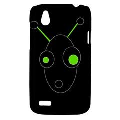 Green alien HTC Desire V (T328W) Hardshell Case