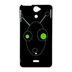 Green alien Sony Xperia V