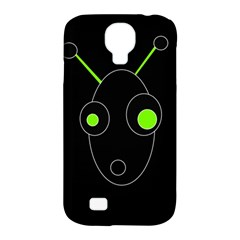 Green alien Samsung Galaxy S4 Classic Hardshell Case (PC+Silicone)