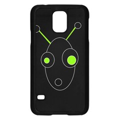 Green alien Samsung Galaxy S5 Case (Black)