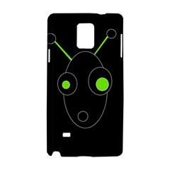 Green alien Samsung Galaxy Note 4 Hardshell Case