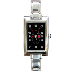 Red alien Rectangle Italian Charm Watch