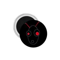 Red alien 1.75  Magnets