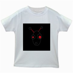 Red alien Kids White T-Shirts