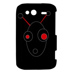 Red alien HTC Wildfire S A510e Hardshell Case