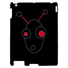 Red alien Apple iPad 2 Hardshell Case