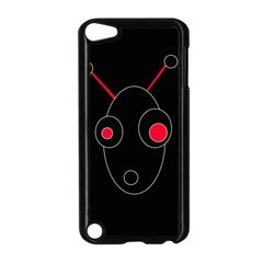Red alien Apple iPod Touch 5 Case (Black)