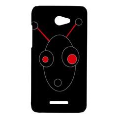 Red alien HTC Butterfly X920E Hardshell Case