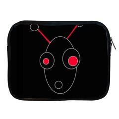 Red alien Apple iPad 2/3/4 Zipper Cases