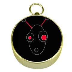 Red Alien Gold Compasses