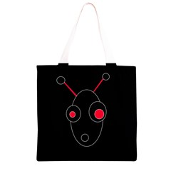 Red alien Grocery Light Tote Bag
