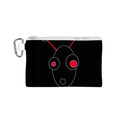 Red alien Canvas Cosmetic Bag (S)