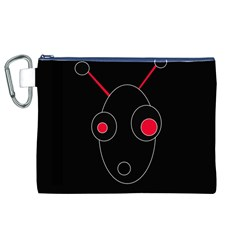 Red alien Canvas Cosmetic Bag (XL)