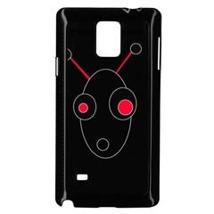 Red alien Samsung Galaxy Note 4 Case (Black)