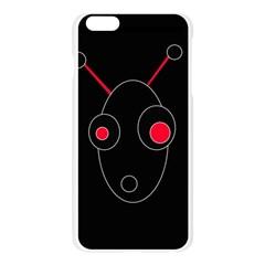 Red alien Apple Seamless iPhone 6 Plus/6S Plus Case (Transparent)