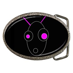 Purple alien Belt Buckles