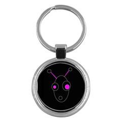 Purple alien Key Chains (Round)