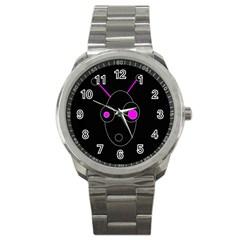 Purple alien Sport Metal Watch