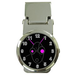 Purple alien Money Clip Watches
