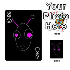 Purple alien Playing Cards 54 Designs