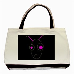 Purple alien Basic Tote Bag (Two Sides)