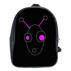 Purple alien School Bags(Large)