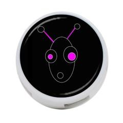 Purple alien 4-Port USB Hub (One Side)