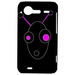 Purple alien HTC Incredible S Hardshell Case