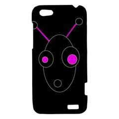 Purple alien HTC One V Hardshell Case